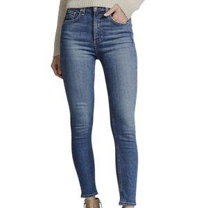 Rag & Bone Medium Wash Ankle Skinny Jeans